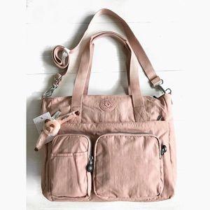 Kipling Multi Functional Bag in Burnt Rose